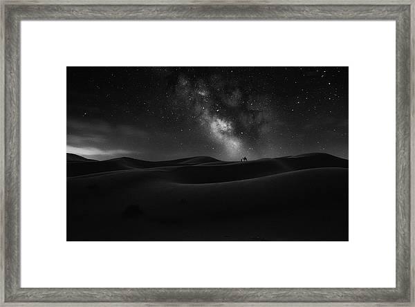 Road To Stars Framed Print