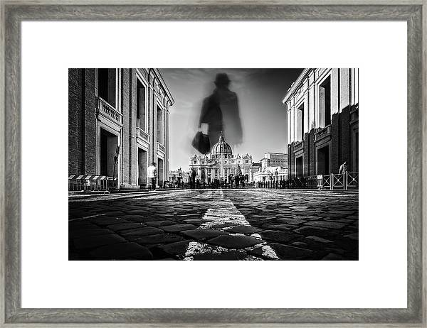 Road To St.peter Framed Print