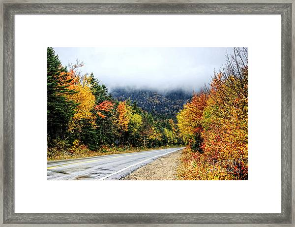 Road To The Clouds Framed Print