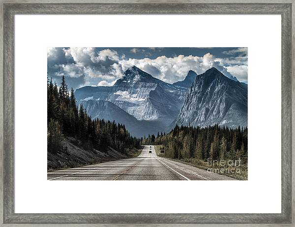 Road To The Great Mountain Framed Print
