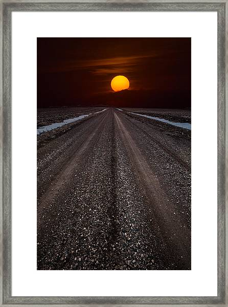 Road To The Sun Framed Print
