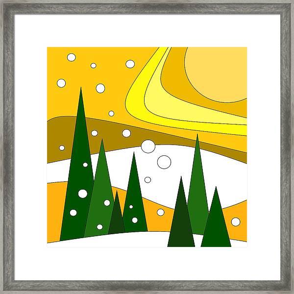 Road Trip Vi - Snow And Sun Framed Print