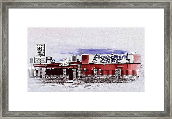 Roadkill Cafe Framed Print