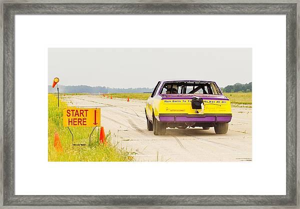 Roadrunner In The Start. Framed Print