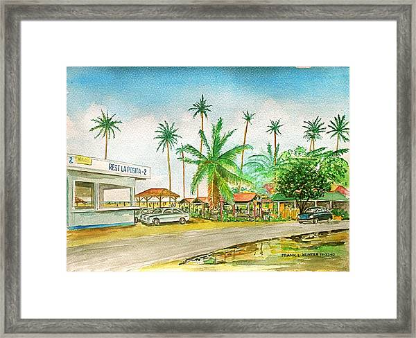 Roadside Food Stands Puerto Rico Framed Print