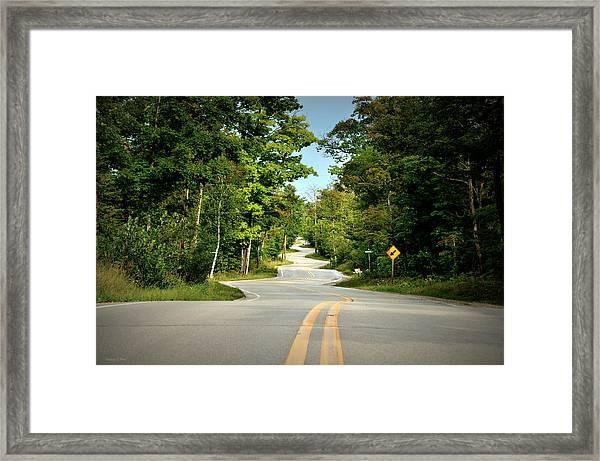 Roadway Slalom Framed Print