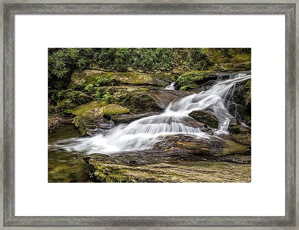 Roaring Fork Falls 01 Detail Framed Print