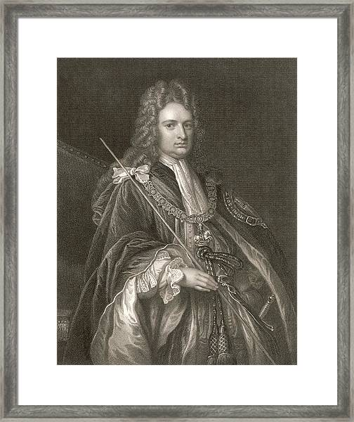 Robert Harley  1st Earl Of Oxford Framed Print