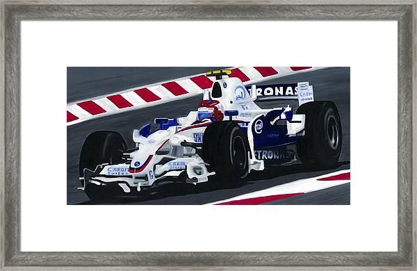 Robert Kubica Wins F1 Canadian Grand Prix 2008  Framed Print