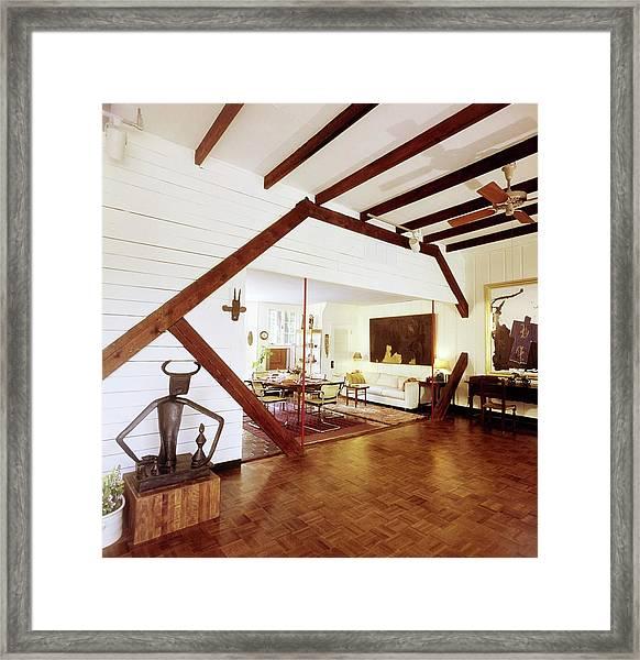 Robert Motherwell's Living Area Framed Print by Horst P. Horst