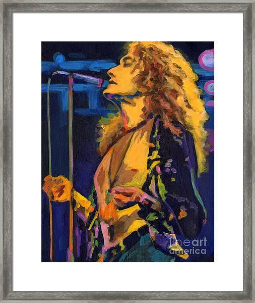 Robert Plant. Kashmir Framed Print