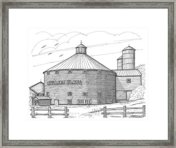 Robillard Flats Round Barn Framed Print