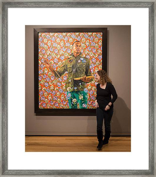 Robin And Anthony Of Padua By Kehinde Wiley  Framed Print