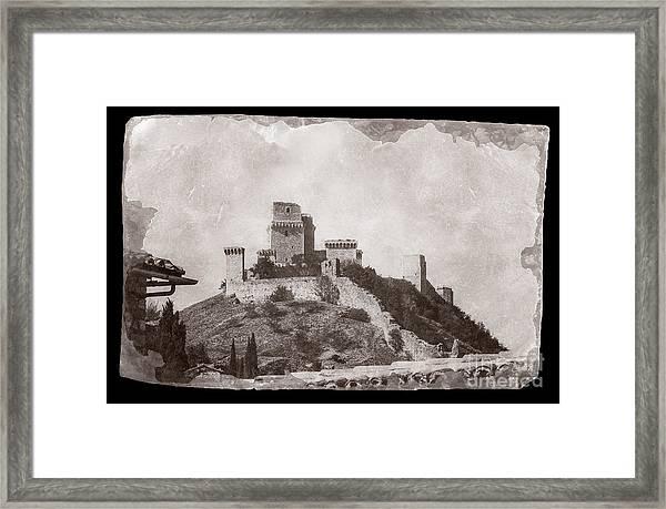 Rocca Maggiore Castle Framed Print