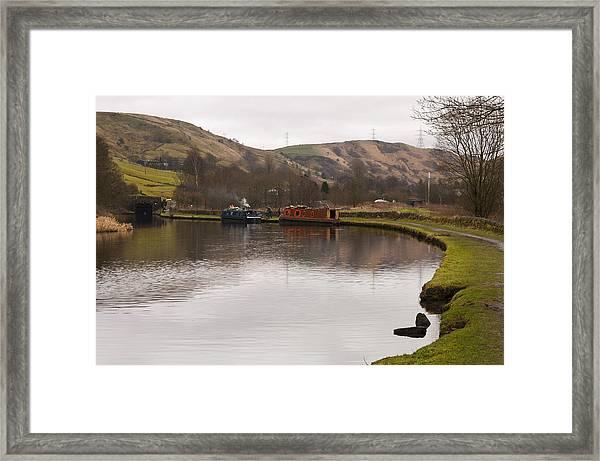 Rochdale Canal Near Walsden Framed Print