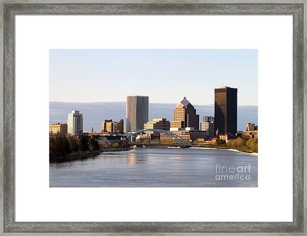 Rochester New York Skyline Framed Print