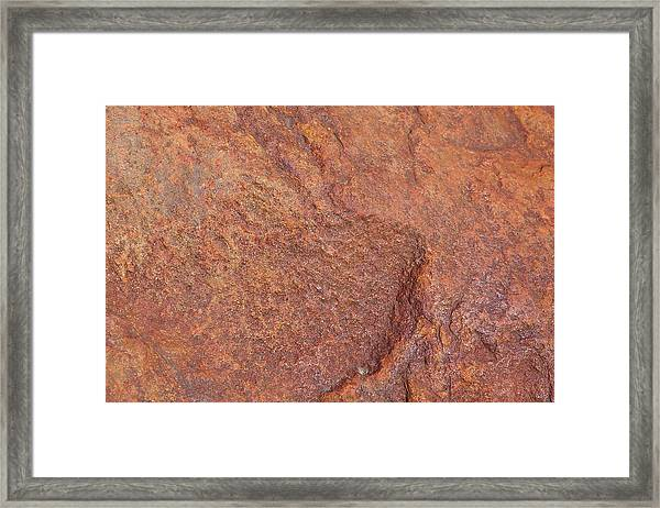 Rock Abstract #3 Framed Print