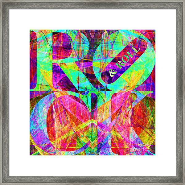 Rock And Roll 20130708 Fractal Framed Print
