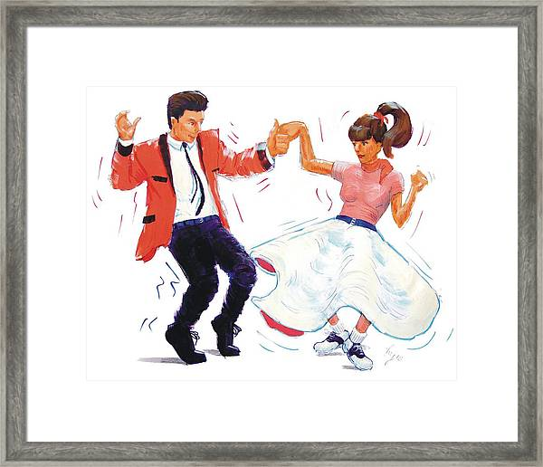 Rock And Roll Dancers Framed Print