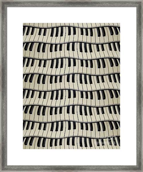 Rock And Roll Piano Keys Framed Print