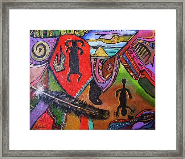 Rock Art Of Nevada Framed Print