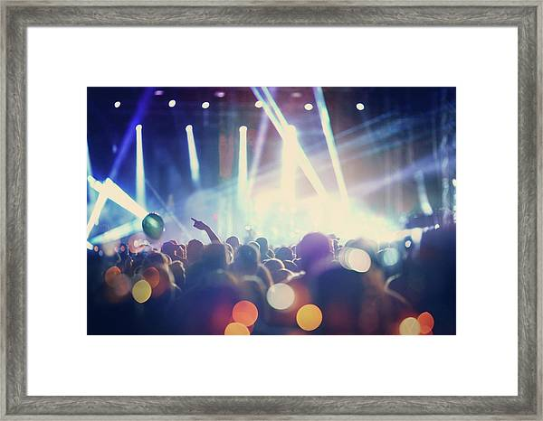 Rock Concert Framed Print by Gilaxia
