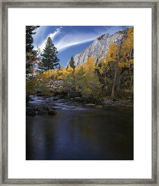 Rock Creek Canyon Gold Framed Print