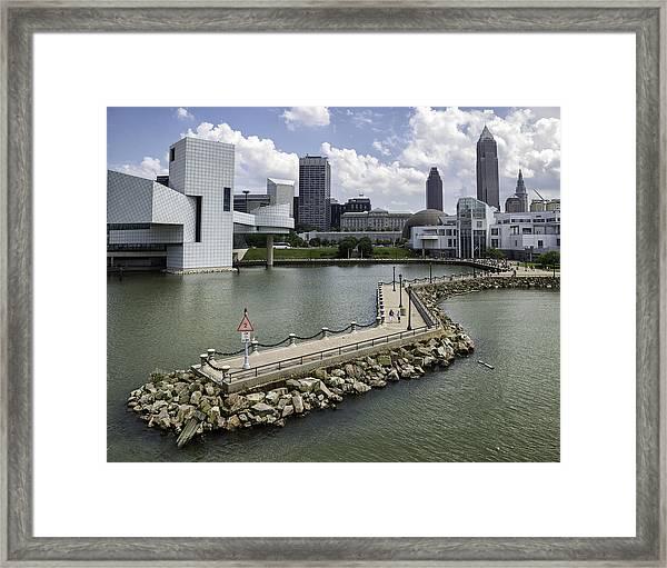 Rock Hall Of Fame On Lake Erie Framed Print