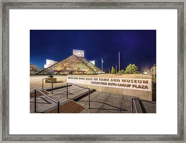 Rock Hall Plaza Framed Print