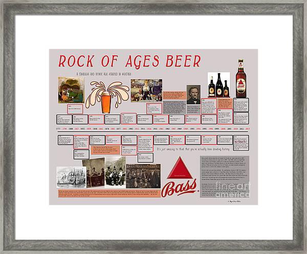 Rock Of Ages Bass Beer Timeline Framed Print