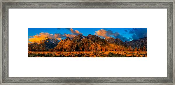 Rock Of Ages Panorama Framed Print