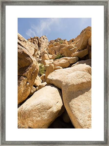 Rock Pile Framed Print