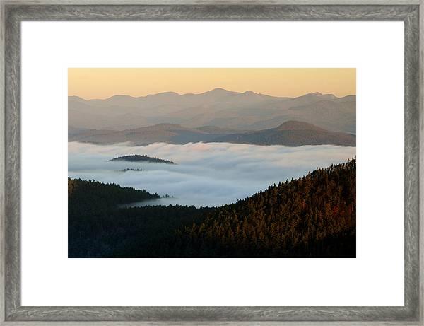 Rock Pond Mt View Framed Print