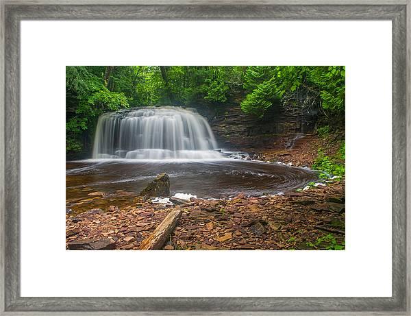 Rock River Falls Framed Print