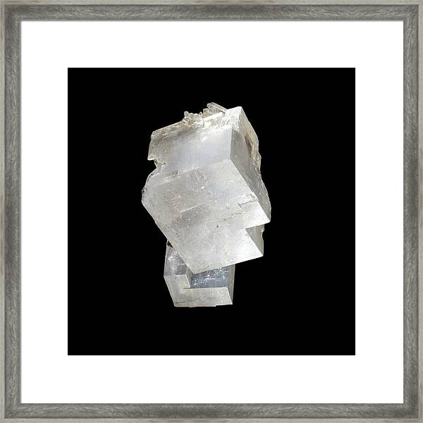 Rock Salt Framed Print