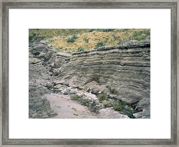 Rock Strata Framed Print