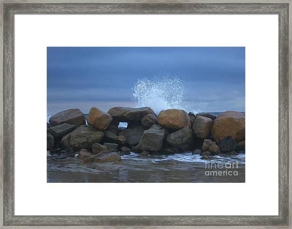 Rock Window Framed Print