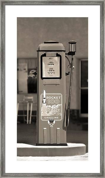 Rocket 100 Gasoline - Tokheim Gas Pump 2 Framed Print