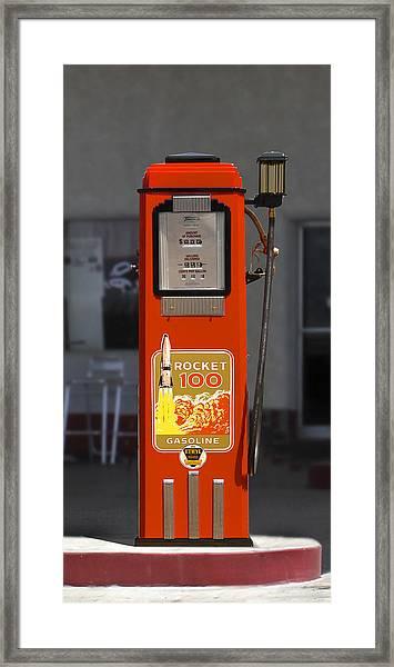 Rocket 100 Gasoline - Tokheim Gas Pump Framed Print