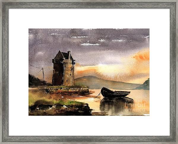 Rockfleet Castle In Mayo Framed Print
