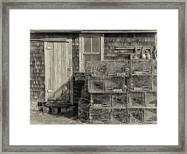 Rockport Fishing Shack Framed Print