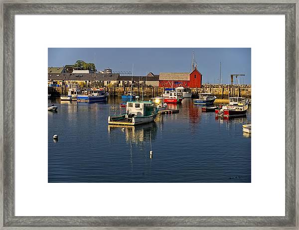 Rockport Harbor No.1 Framed Print