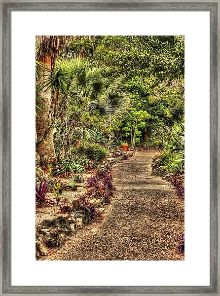 Rocks On Road Framed Print