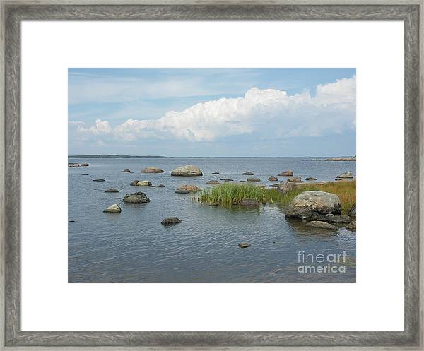 Rocks On The Baltic Sea Framed Print