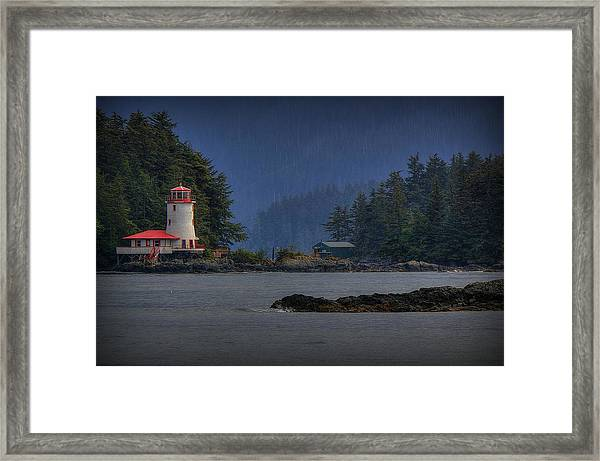 Rockwell Lighthouse Sitka Alaska Framed Print