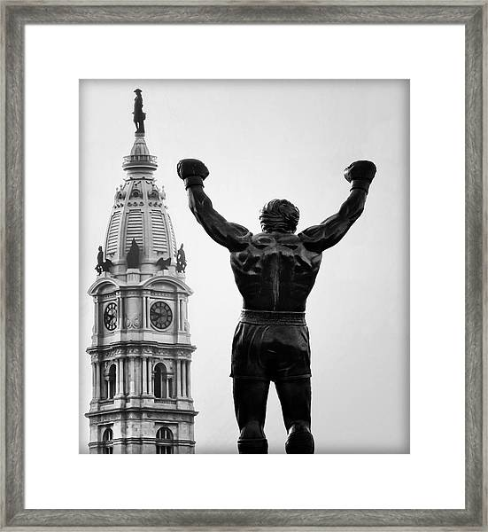 Rocky And Philadelphia Framed Print