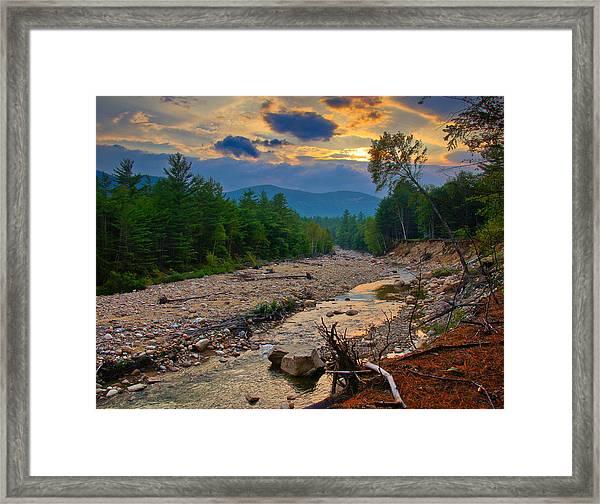 Rocky Branch Sunset Framed Print