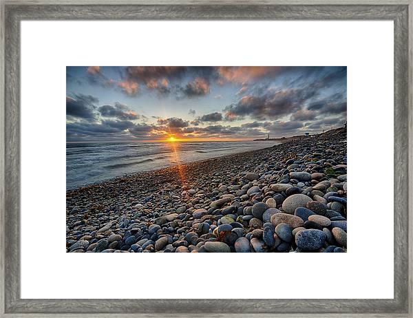 Rocky Coast Sunset Framed Print
