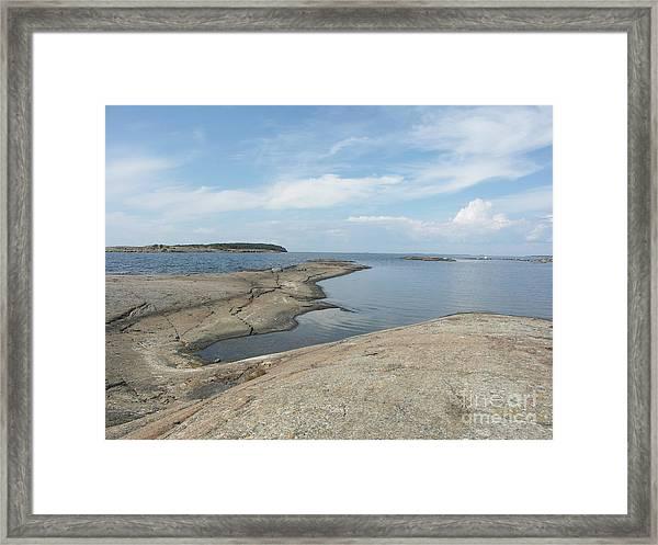 Rocky Coastline In Hamina Framed Print