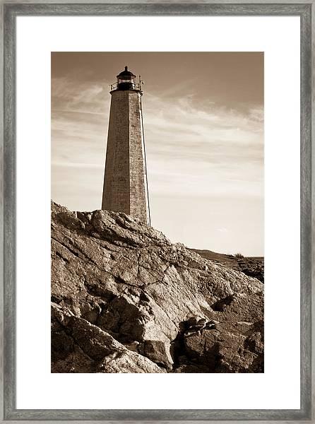 Rocky Lighthouse Framed Print